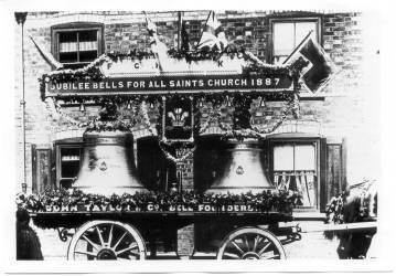 Jubilee bells for All Saints Church, 1887.
