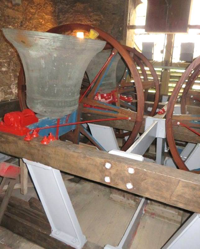 The restored bells ready to ring out.