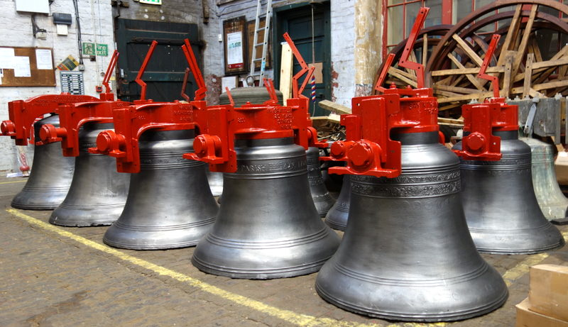 Blockley bells ready for dispatch.