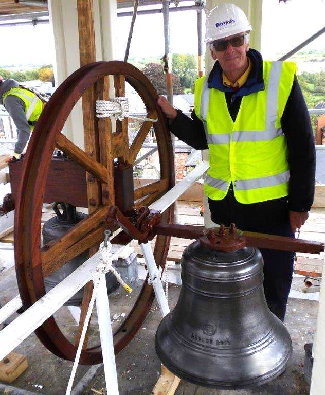 Brackley's bells rehung in the Town Hall's cupola.