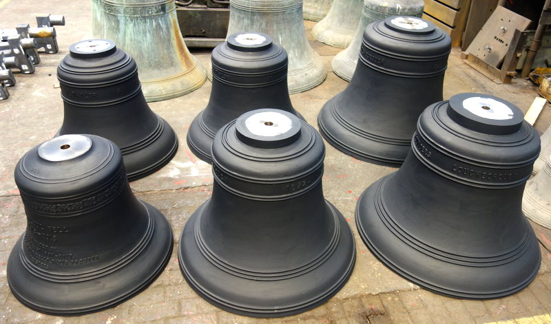 Butterton's bells ready for dispatch.
