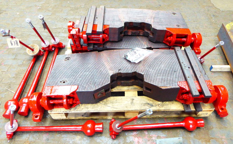 The restored fittings ready for dispatch.