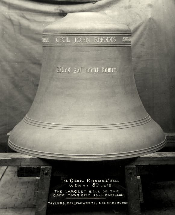 The Cecil Rhodes Bell for City Hall, Cape Town.