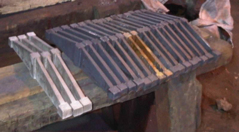 Fire grate bars.