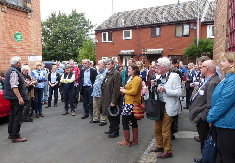 Members of the Churches Building Council gathered in front of the Foundry.