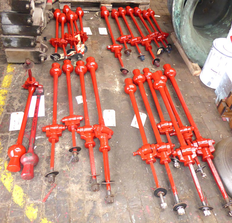 Various of the clappers ready for dispatch.