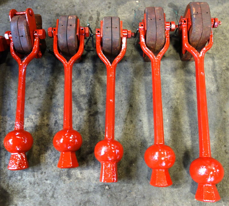 The restored clappers ready for dispatch.