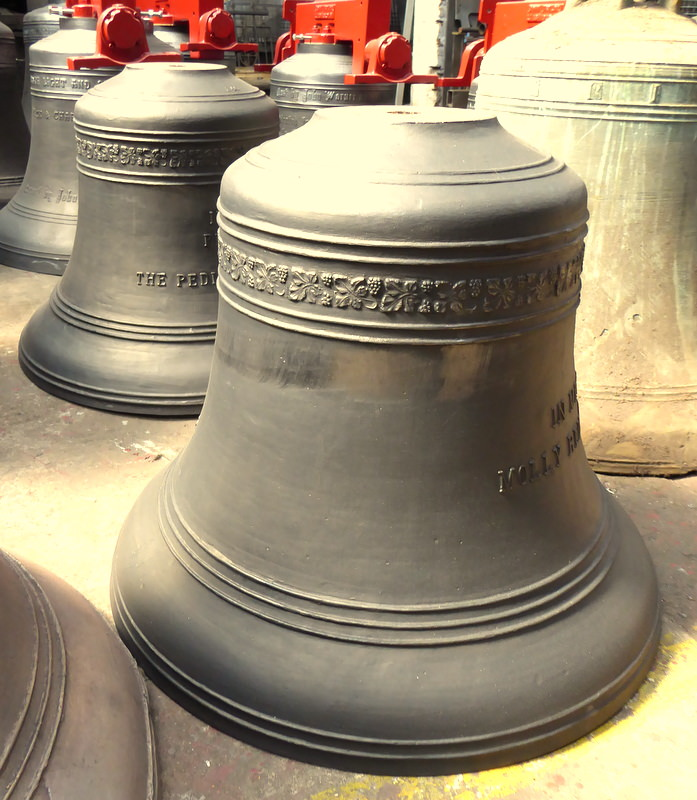 Grinton's new treble bells.