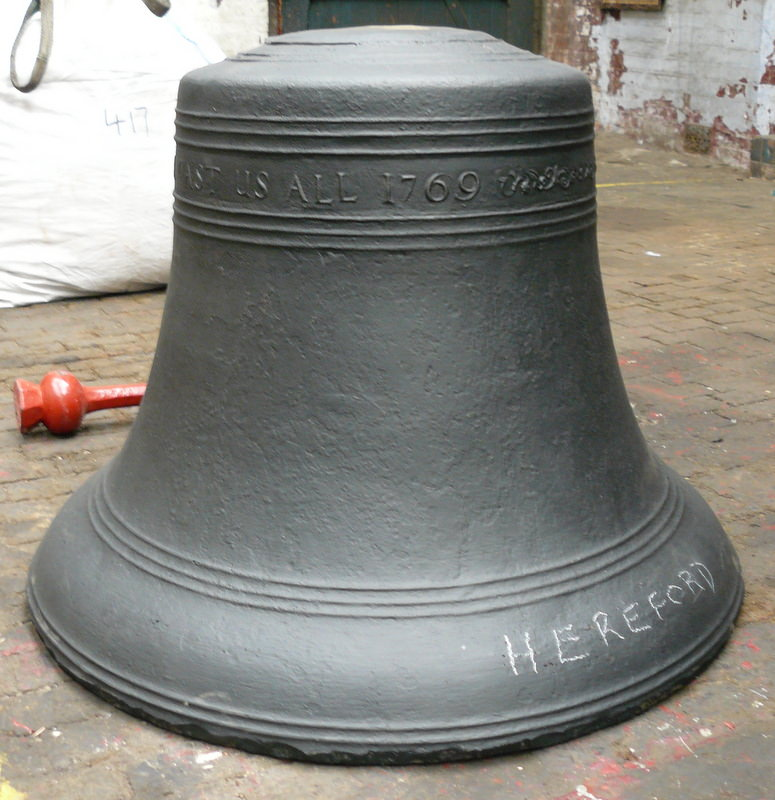 The fifth bell after welding.