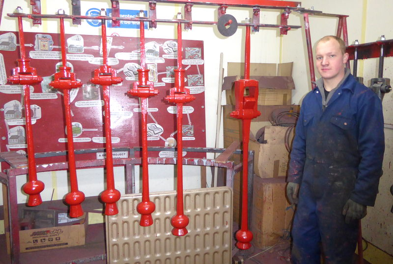 Simon with Low Bentham's restored clappers.