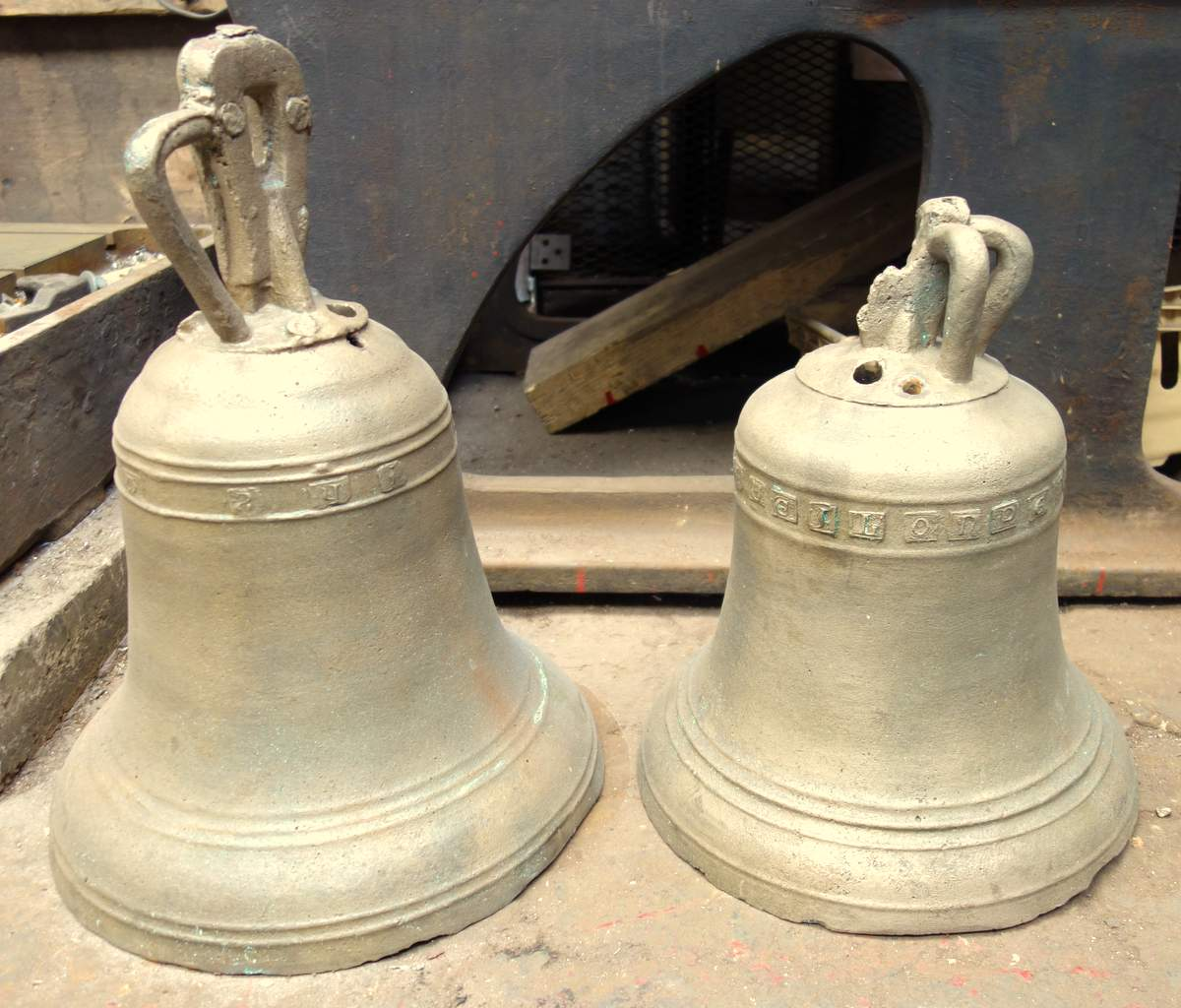 Moresby's two ancient bells.