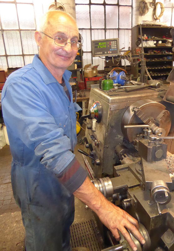 Neil Harvey at work in the Foundry.