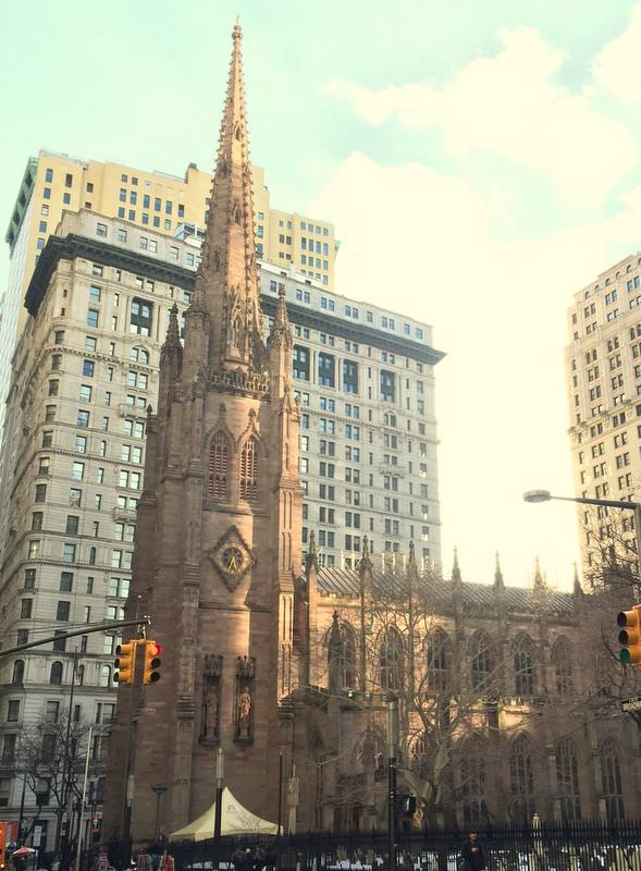 Trinity Church in the heart of Manhattan's financial district.