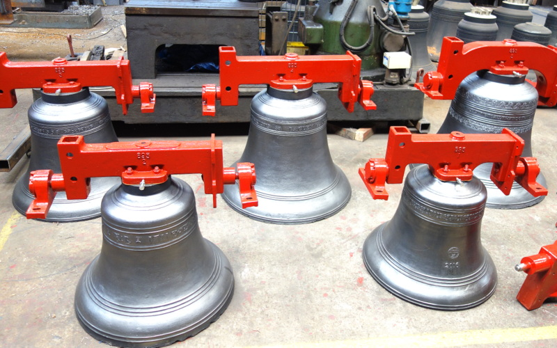 The bells ready for dispatch.