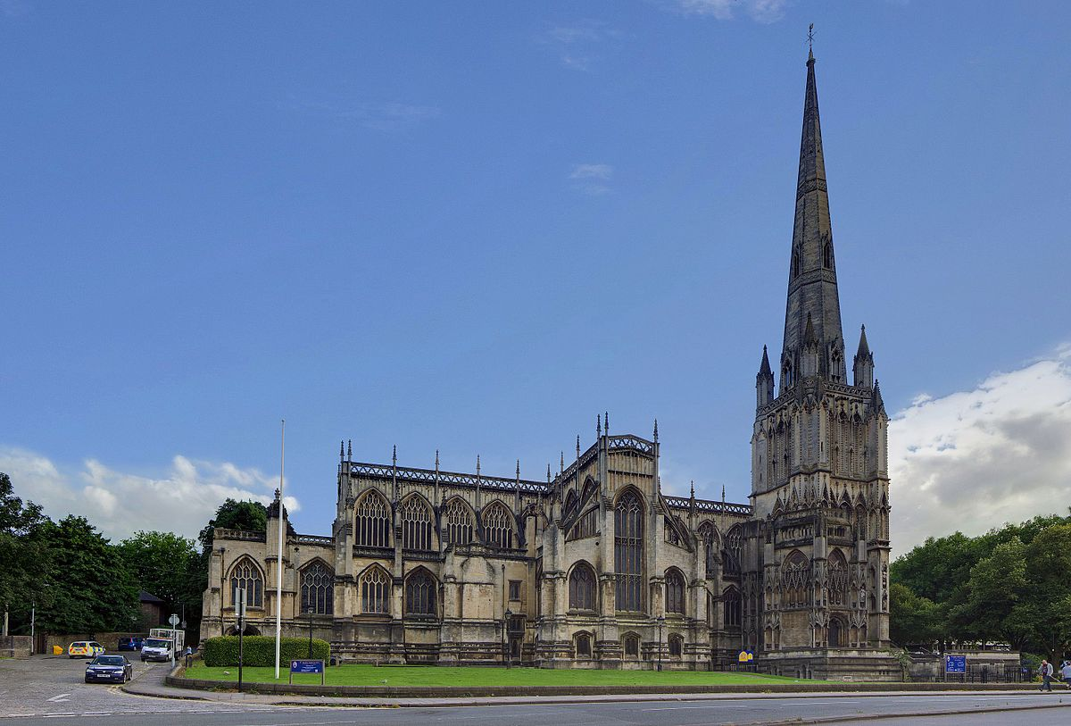 The magnificent mediaeval church of St Mary, Redcliffe, Bristol.