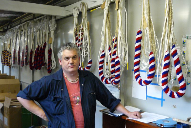The bell rope workshop.