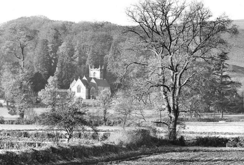 One of Chris Dalton's beautiful photos, showing Shroton Church in its beautiful location.