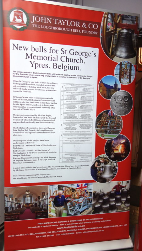 Details of the project have been collated on a new banner for display at St George's.