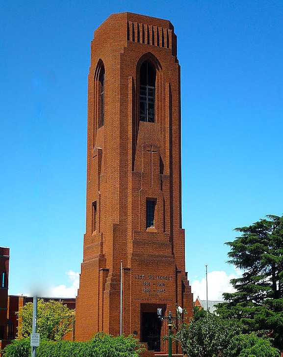 Bathurst War Memorial Carillon Tower.