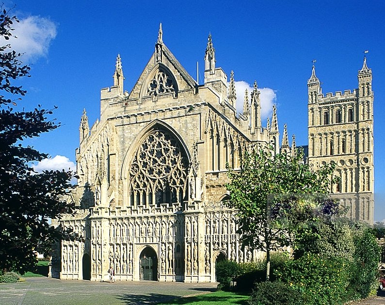 Exeter's beautiful cathedral which houses a 72 cwt ring of twelve.