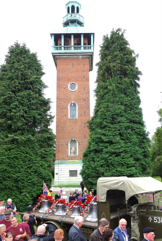 Loughborough's War Memorial Carillon Tower.