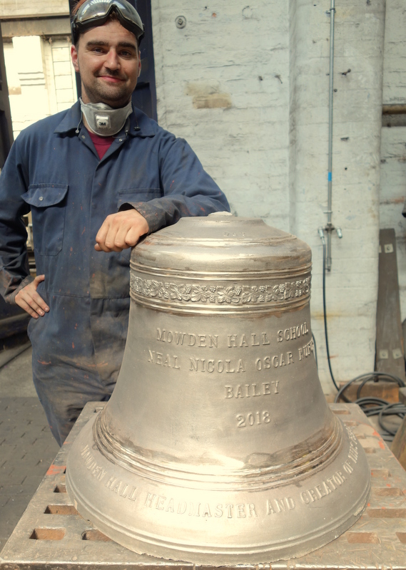 Will fettles one of the newly cast bells