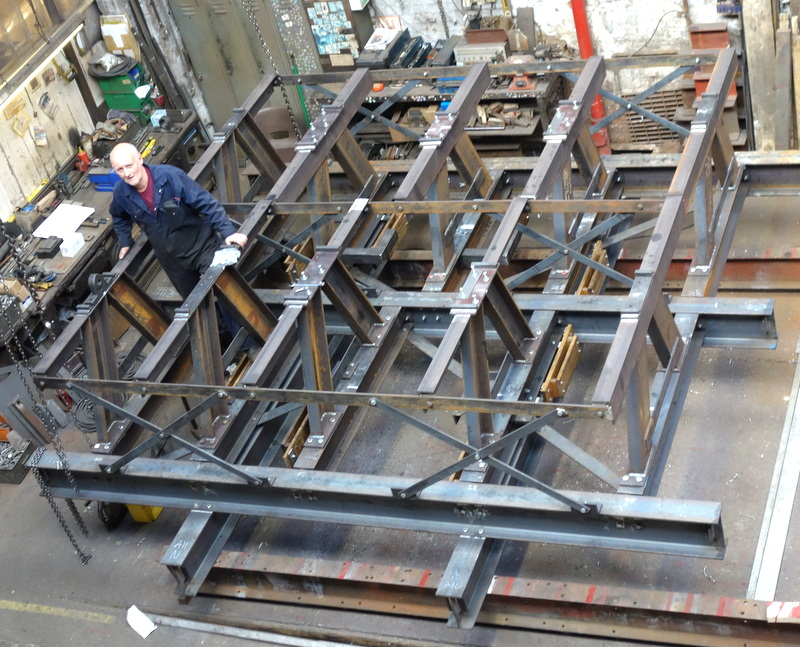 The bell frame has been completed - it will be dismantled and galvanised next.