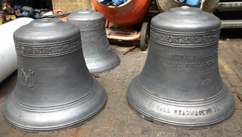 Four of the bells have been cast so far - they're lovely castings.