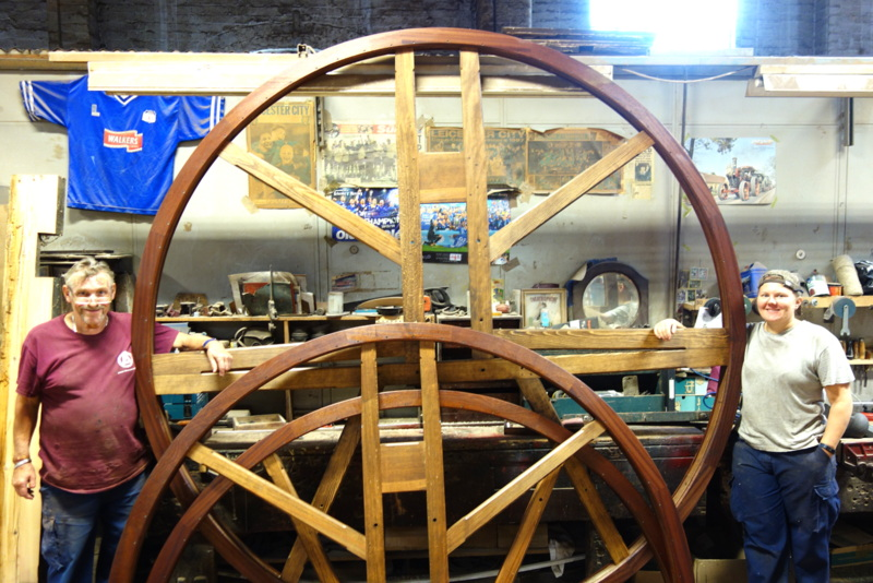 The new tenor wheel has a diameter of 9'