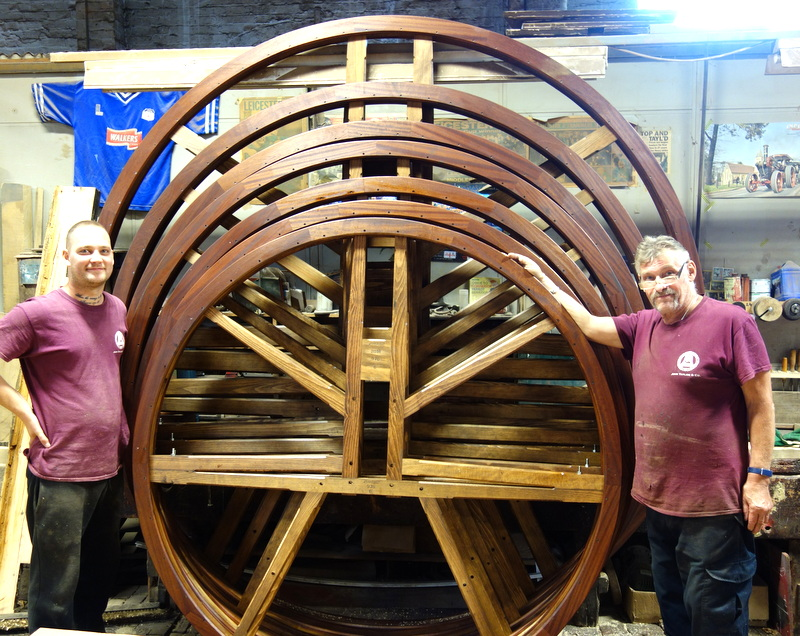 Mick and Ross with some of the new bell wheels
