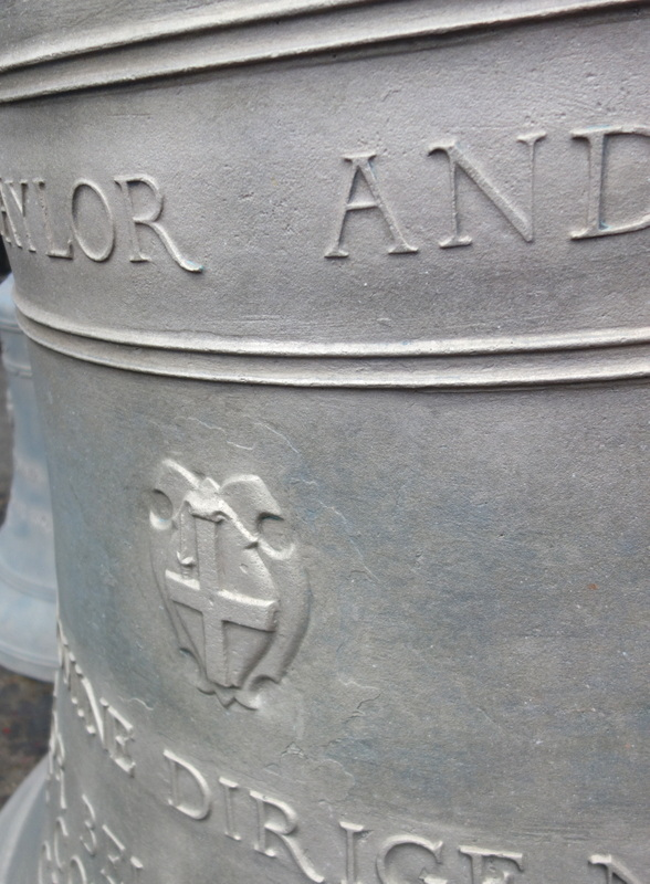 Detail of the tenor bell after cleaning - what a difference!