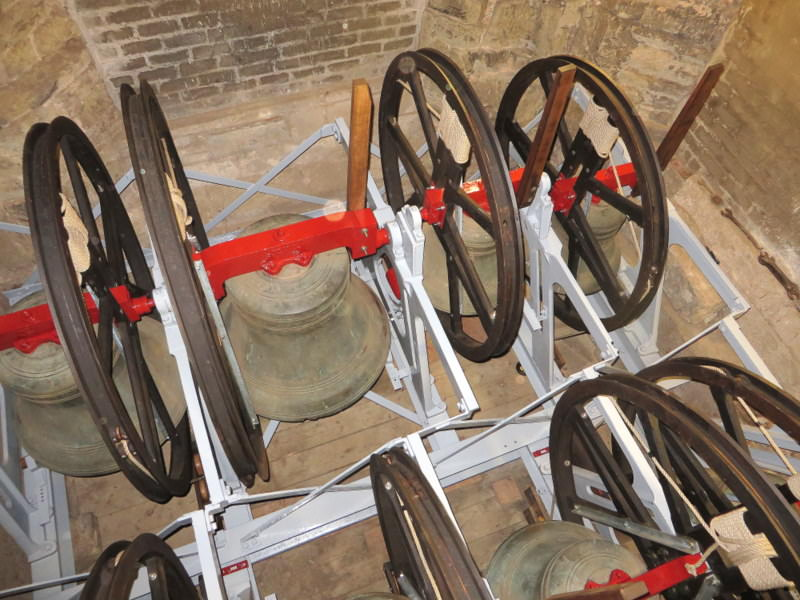 Job completed, and all fittings restored to the bells. (Photo: Chris Bennett.)