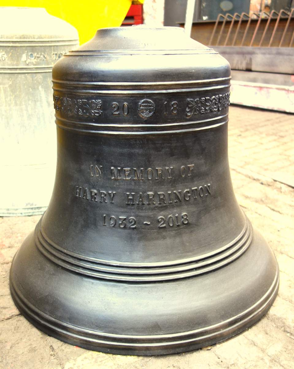 The newly cast treble bell.