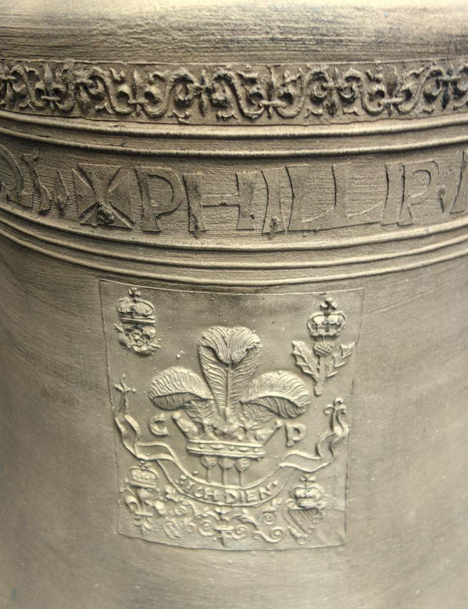 Inscription detail on the tenor bell