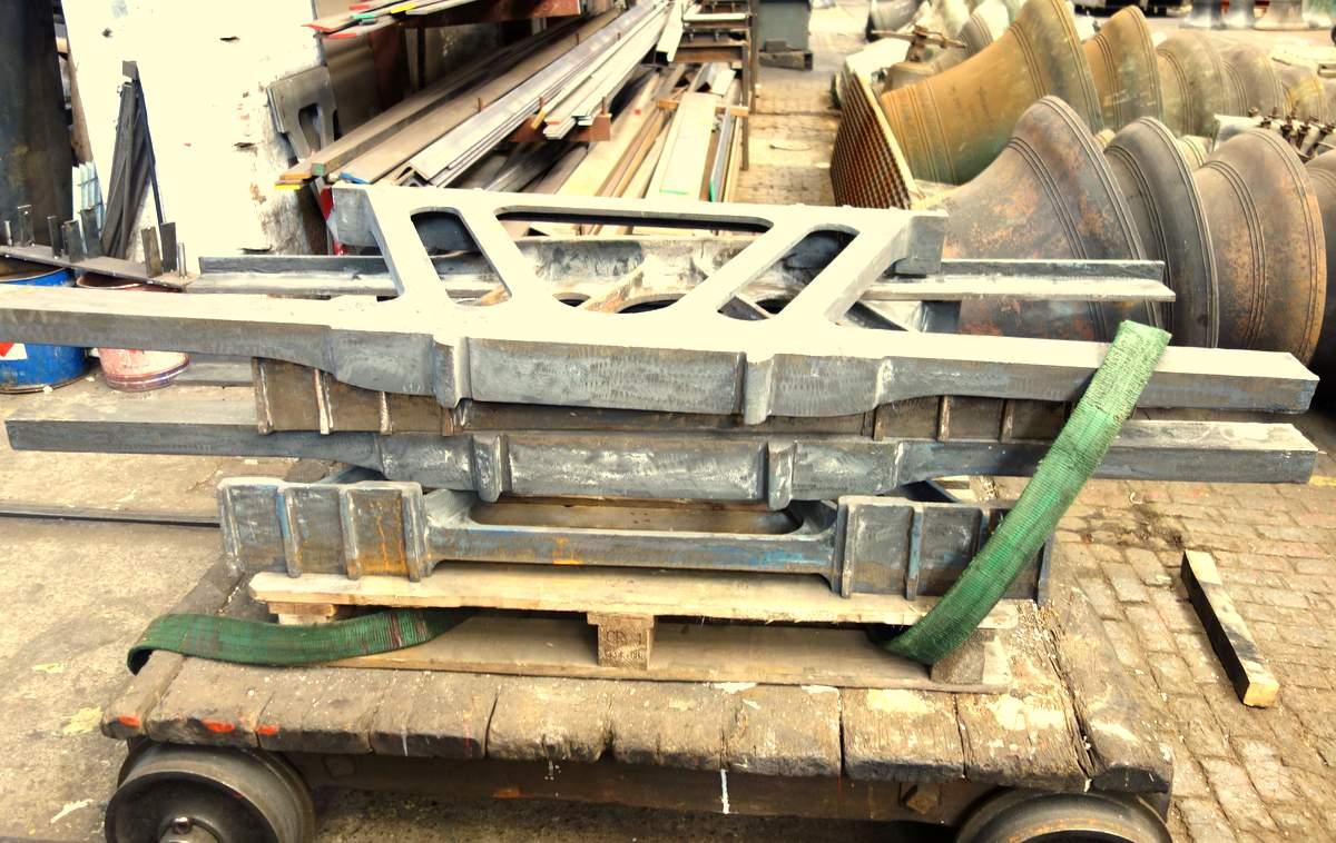 New cast iron frame sides have been manufactured to extend the bell frame.