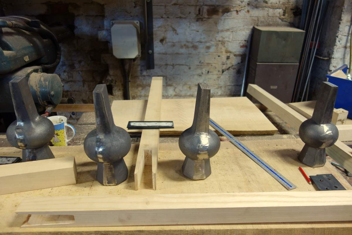The new back bell clappers in the making.