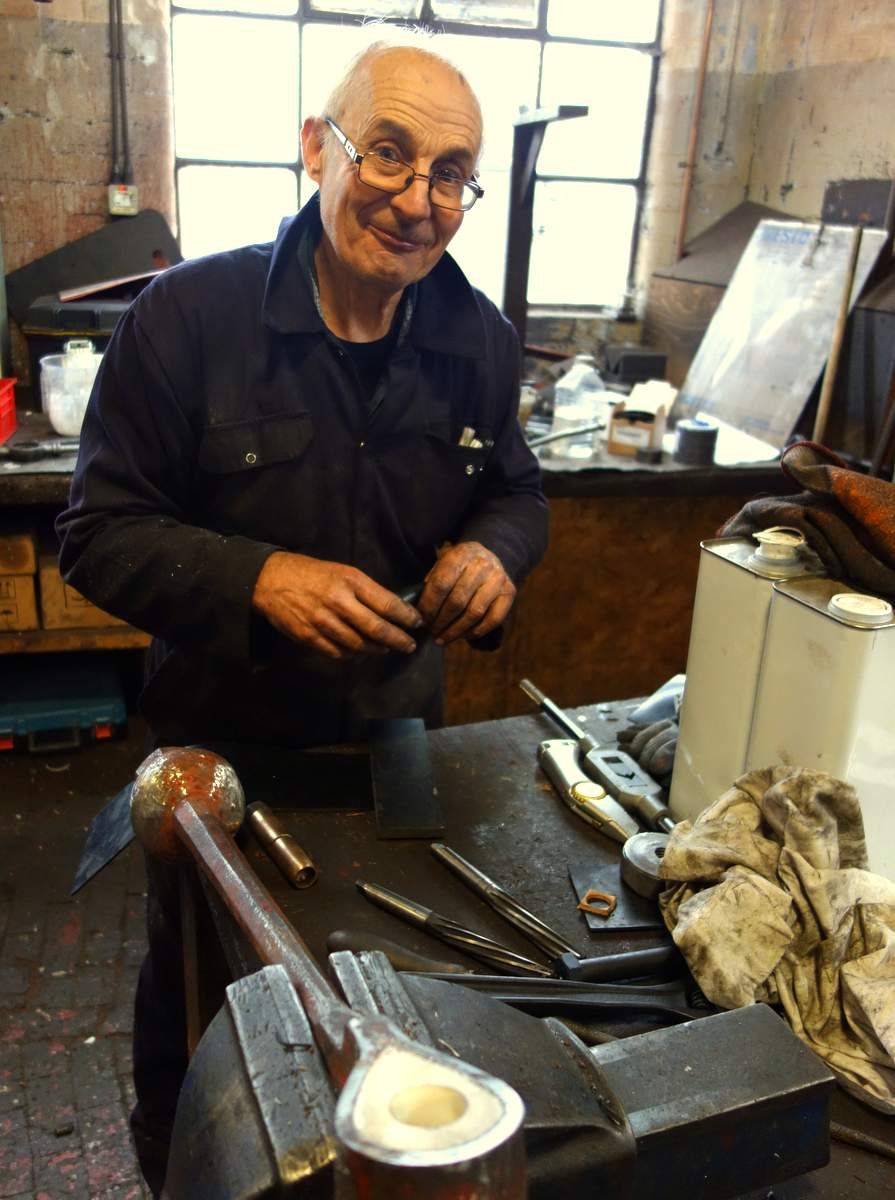 Neil works on Penrith's clappers