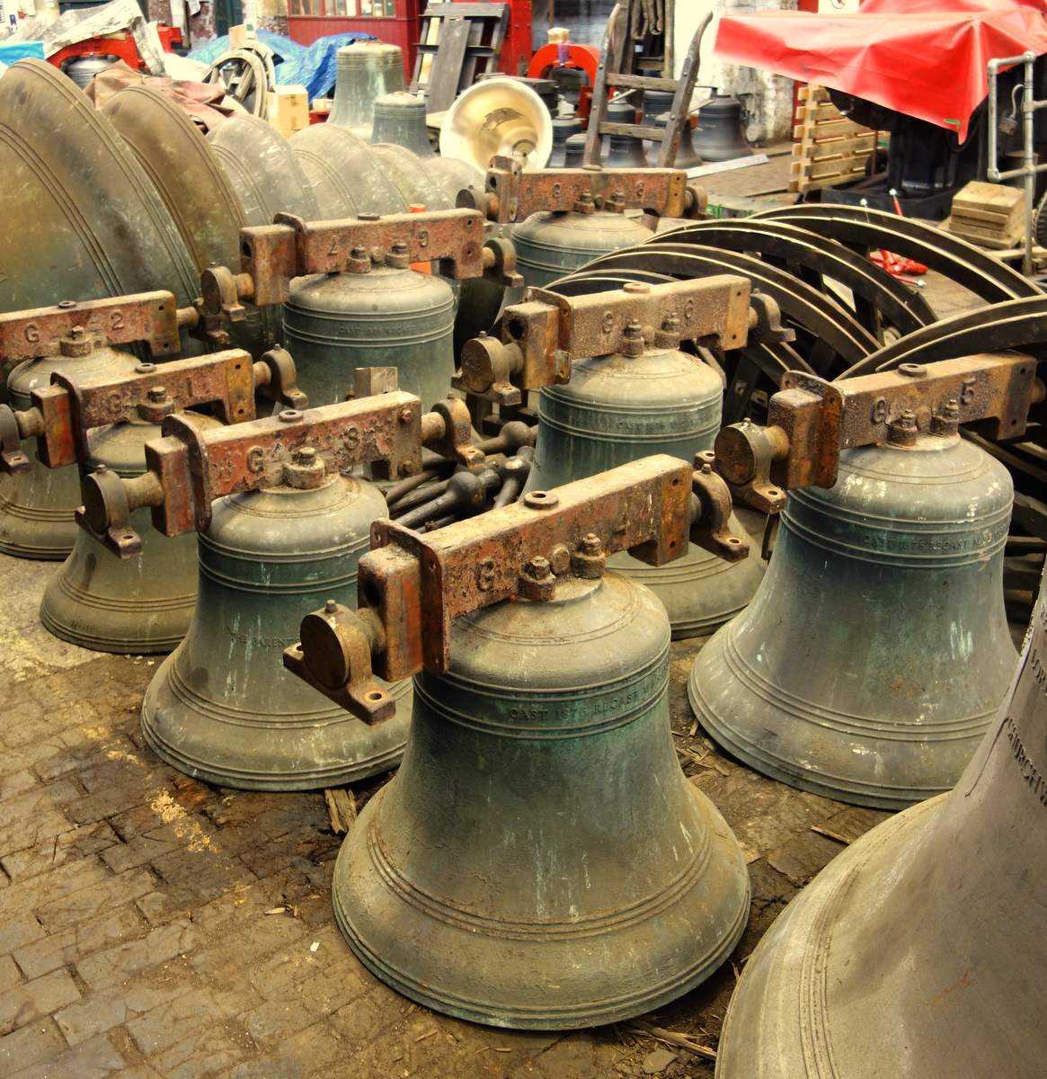 The bells and their fittings have arrived.