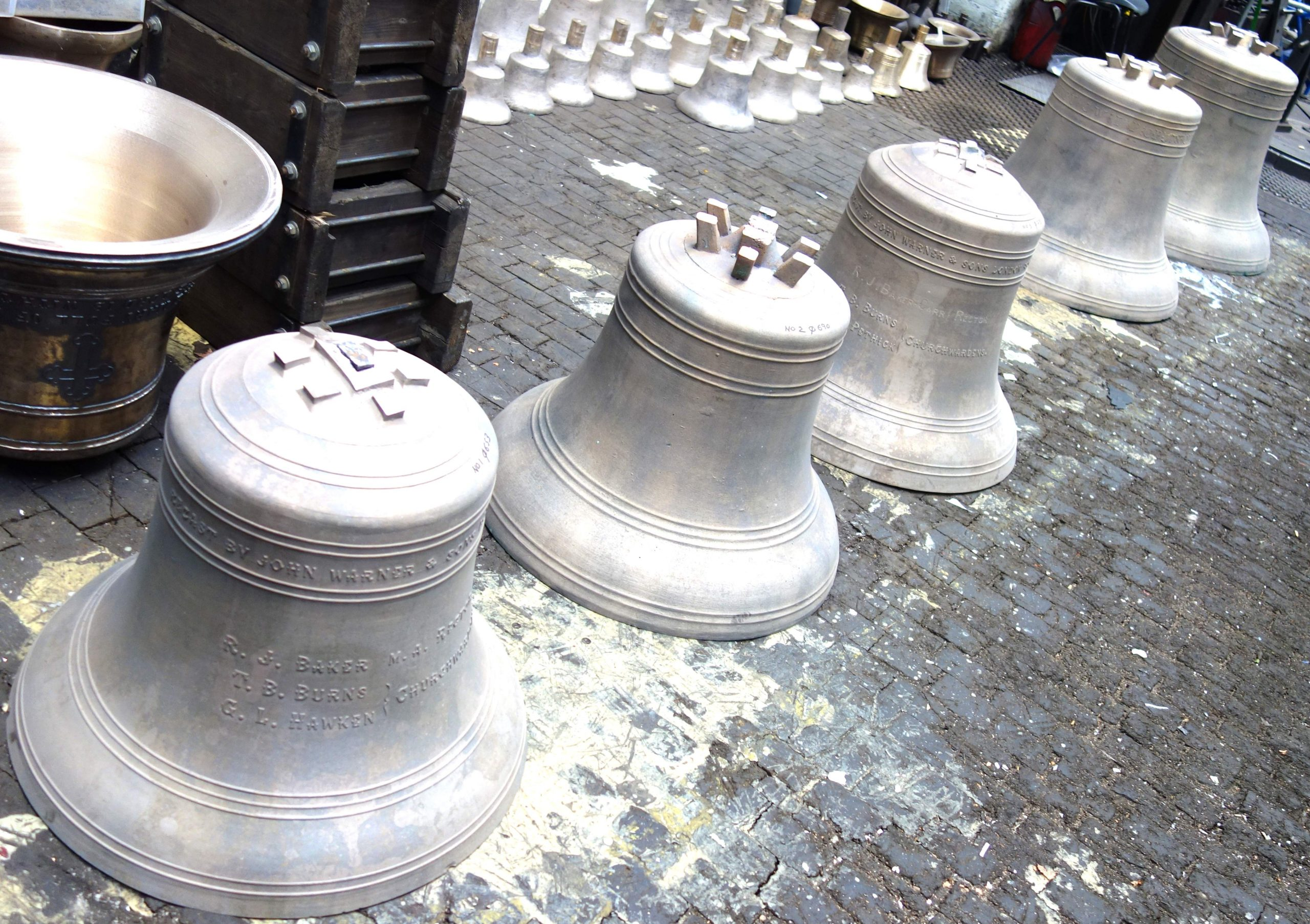 The canons have been removed ready for the casting of seating pads.