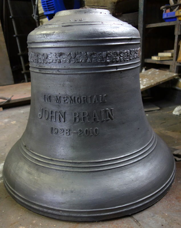 The bell straight from being dug up - it's a beautiful casting.