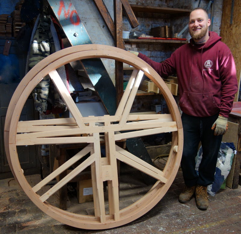 Ross made the new wheels for Butterton.