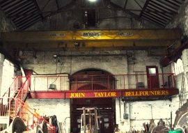The overhead crane of the Foundry before the replacement.
