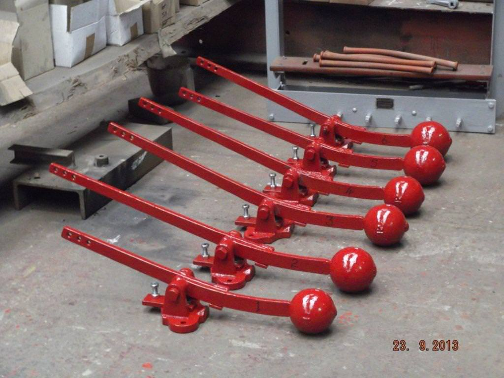 A set of restored Ellacombe Chiming Hammers.