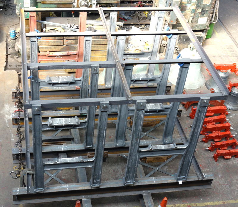 The completed new bell frame - now ready for galvanising and painting