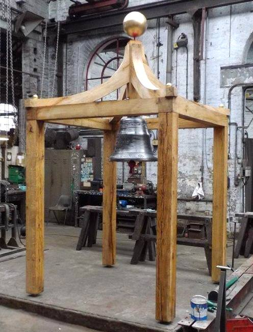 Crafted in green oak, this free standing bell cote has been made by our craftsmen for a country house.