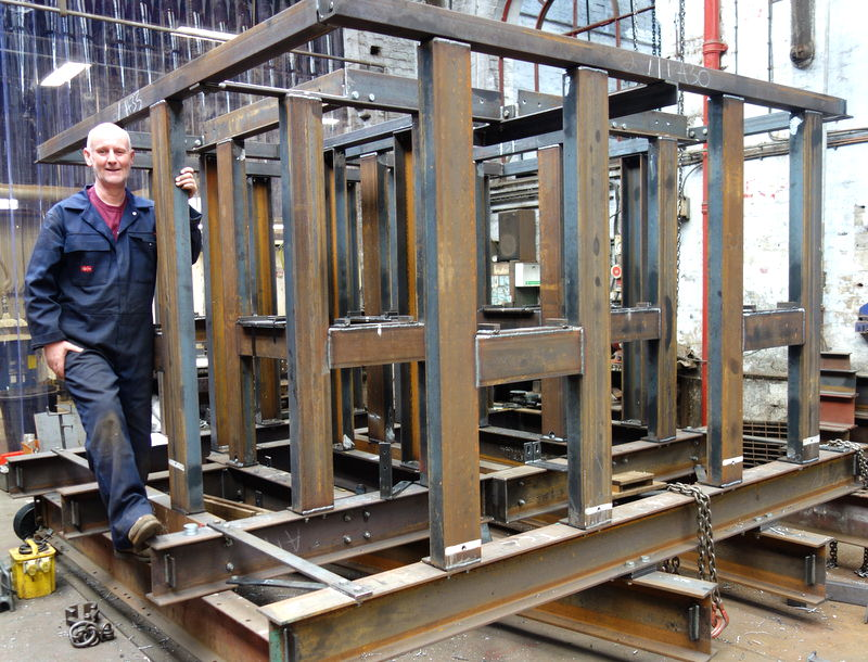 The new bell frame is complete - it has been dismantled and sent away for galvanising.