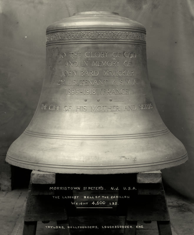 The largest bell of the Morristown St Peters carillon.