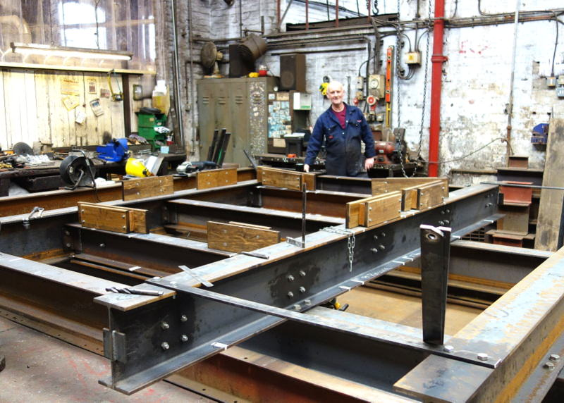 Colin makes a start on yet another new bell frame!