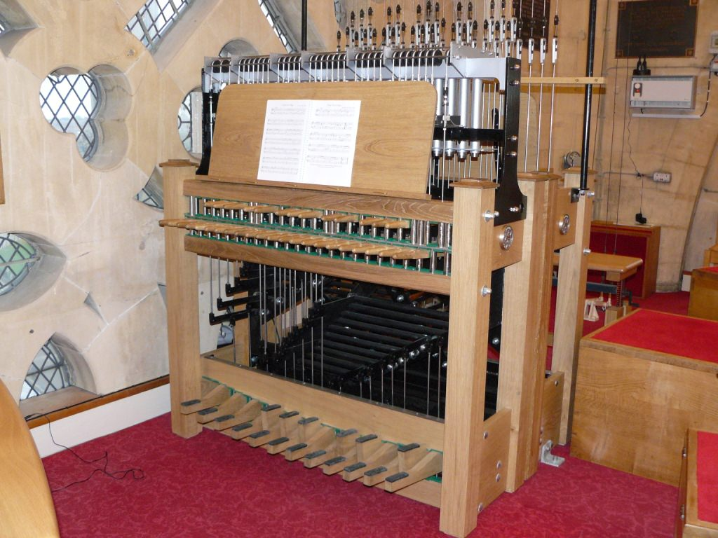 A recently manufactured practice clavier for the carillon at York Minster.