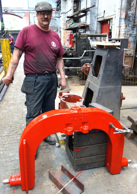A new horse shoe shaped headstock has been cast for the bourdon bell so that it can be hung for slow swinging.